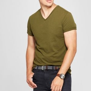 Goodfellow & Co Military Green V Neck Tee Shirt